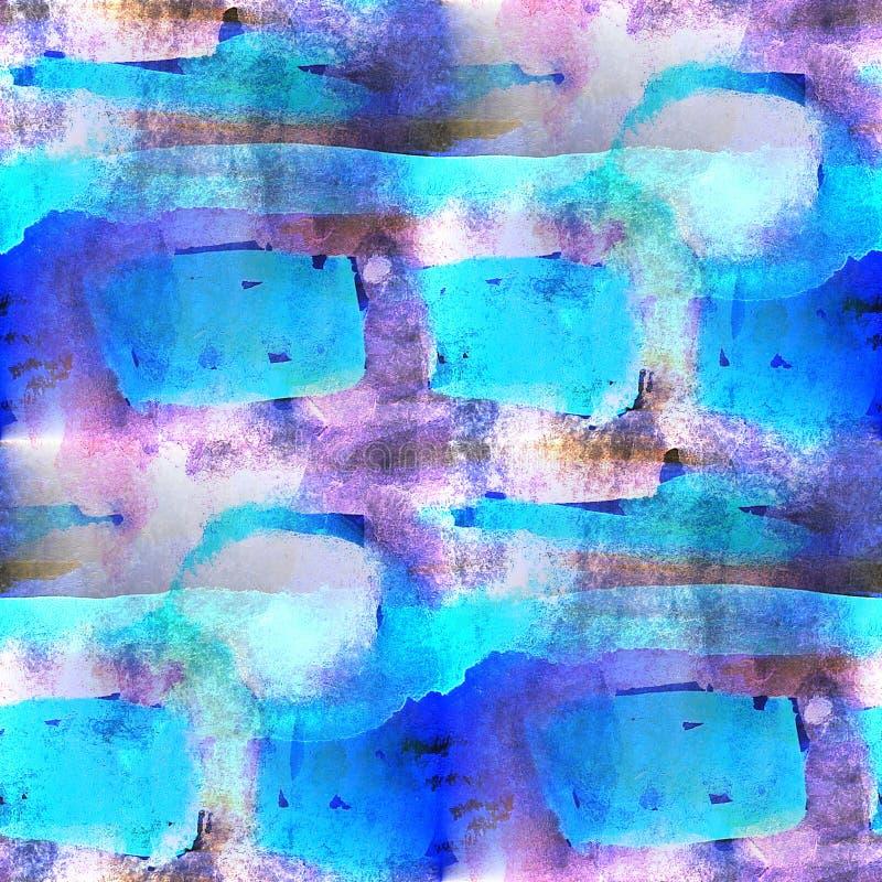 Palette purpurrot, nahtlose Verzierung des blauen Bildes stockfotos
