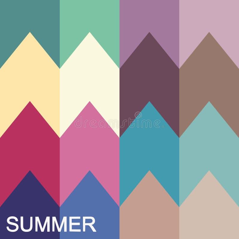 palette saisonnière d'analyse de couleur pour le type d'été Type d'aspect femelle illustration stock