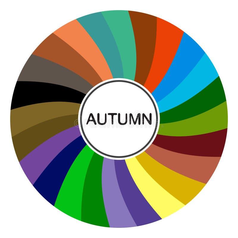 palette saisonnière d'analyse de couleur pour le type d'automne Type d'aspect femelle illustration stock