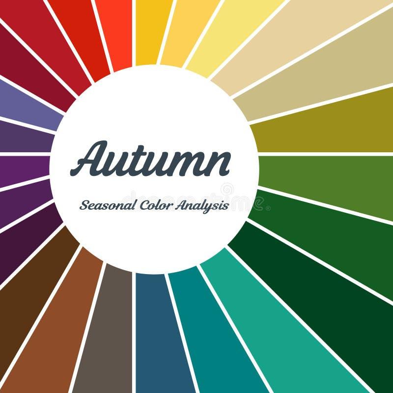 palette saisonnière d'analyse de couleur pour le type d'automne Type d'aspect femelle illustration de vecteur