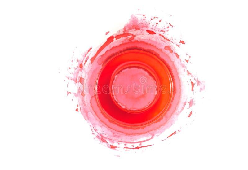 Palette und rote Farbe lizenzfreie stockfotos