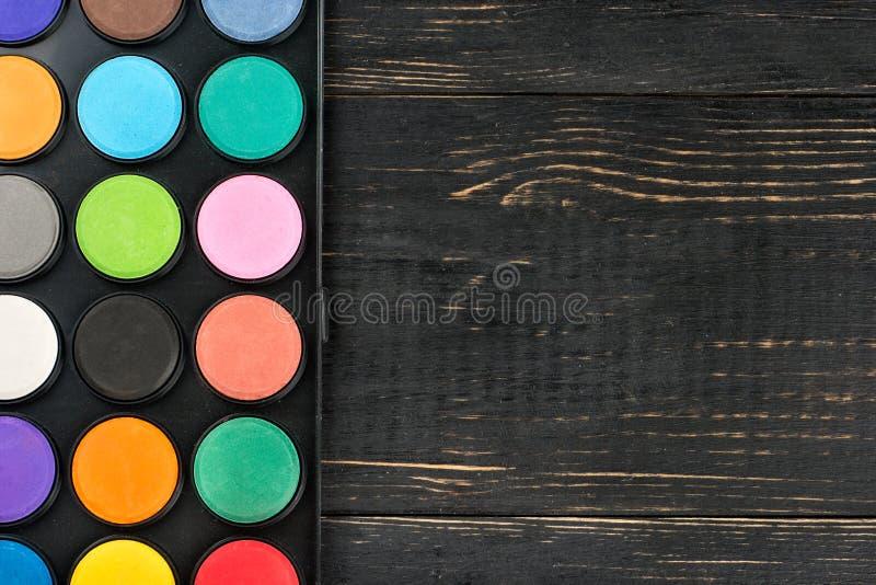 Palette von Farben lizenzfreie stockbilder
