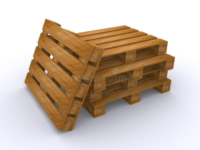 Palettes en bois illustration de vecteur