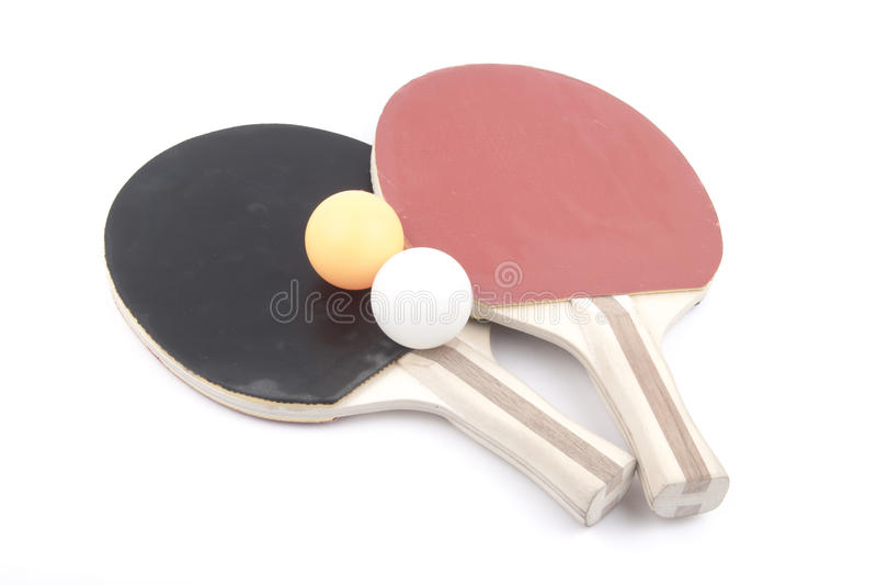 Palettes et billes de ping-pong images libres de droits