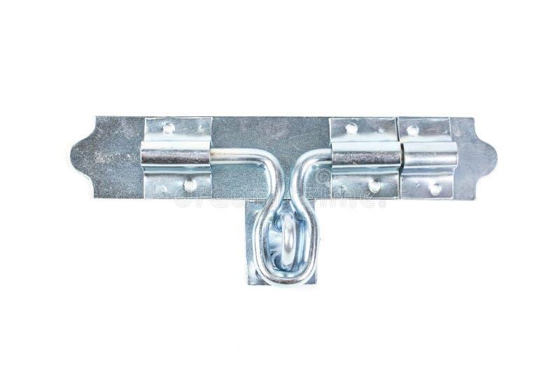 Paletti d'acciaio d'argento su fondo bianco fotografia stock