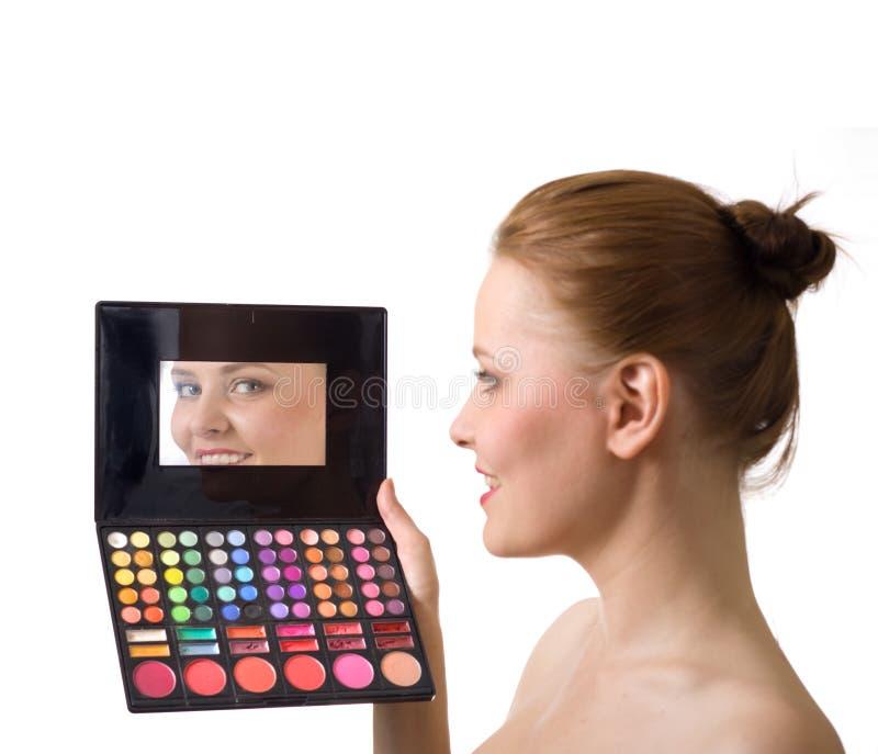 palety urocza kobieta fotografia royalty free