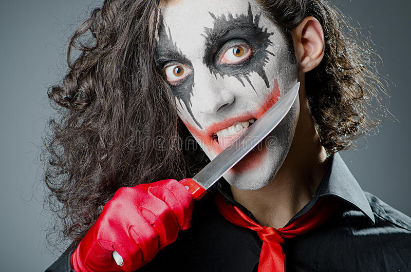 Palhaço com máscara protectora fotos de stock royalty free