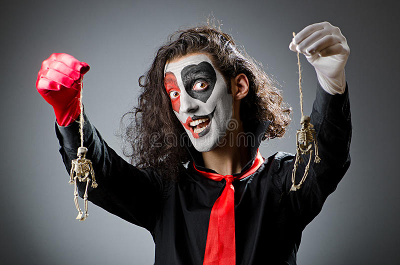 Palhaço com máscara protectora imagem de stock royalty free