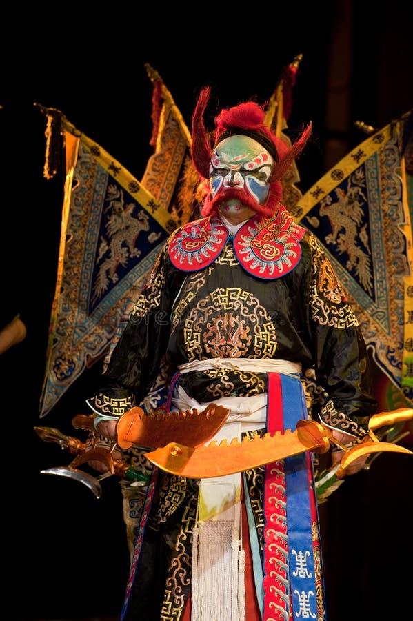 Palhaço da ópera de China imagem de stock