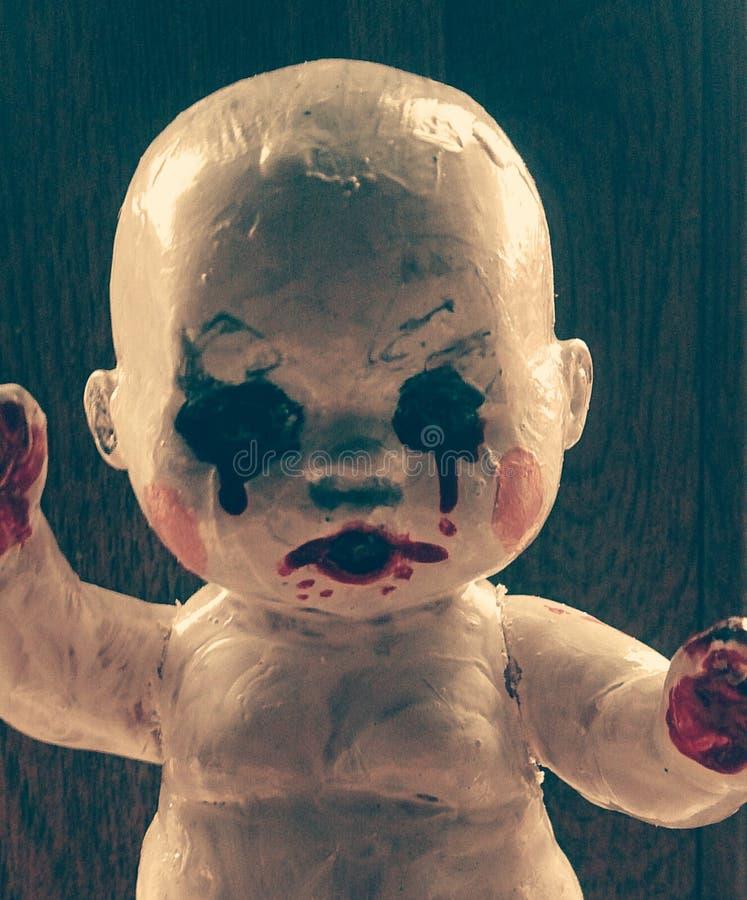 Palhaço da boneca do assassino fotografia de stock royalty free