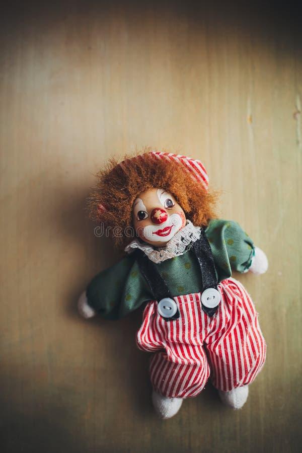 Palhaço da boneca do vintage imagem de stock