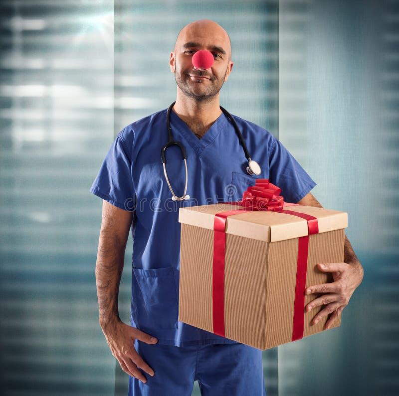 Palhaço da enfermeira foto de stock royalty free