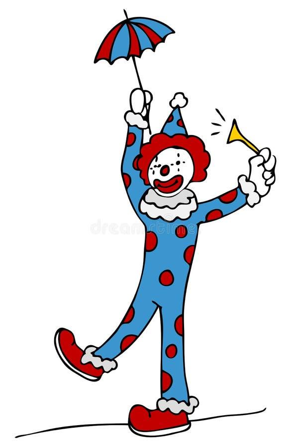 Palhaço de circo de passeio do Tightrope ilustração do vetor