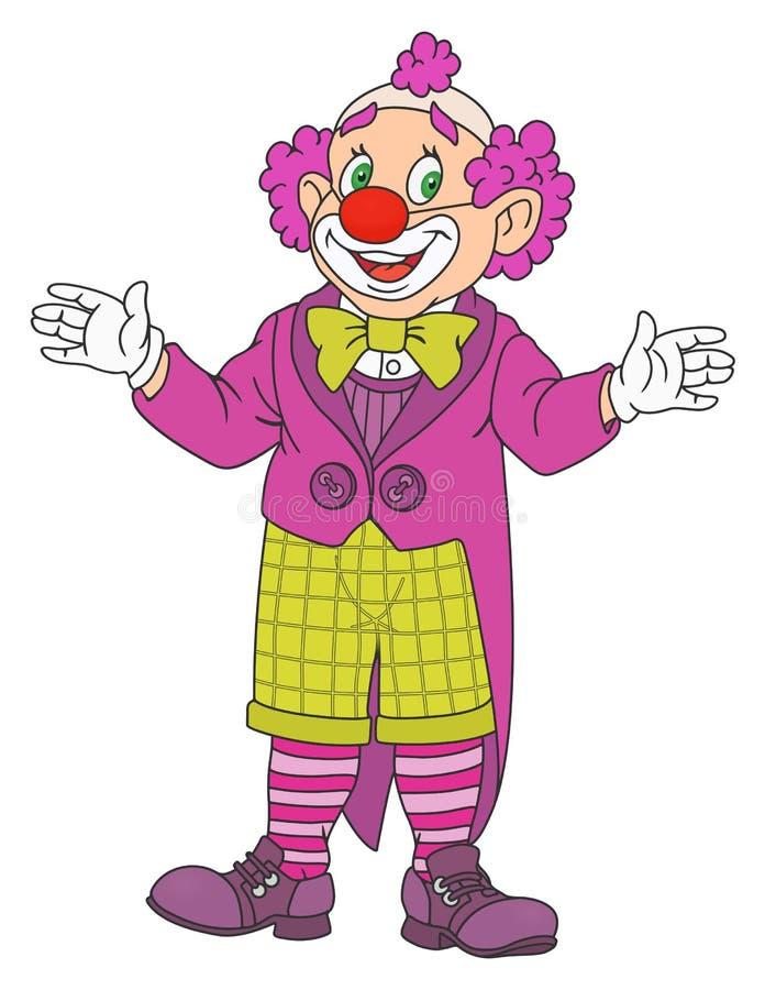 Palhaço de circo engraçado ilustração royalty free