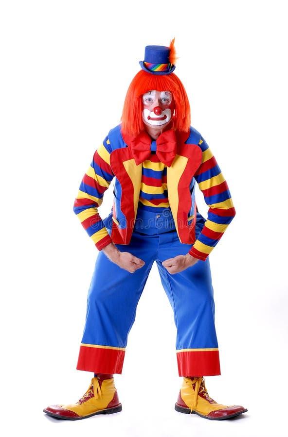 Palhaço de circo Wrestling imagem de stock
