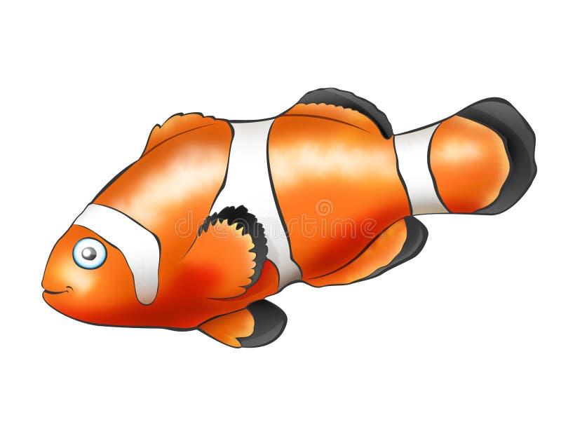 Palhaço dos peixes ilustração do vetor