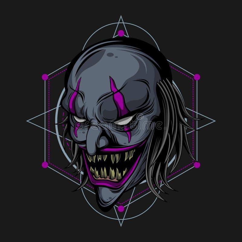Palhaço escuro do inferno ilustração royalty free