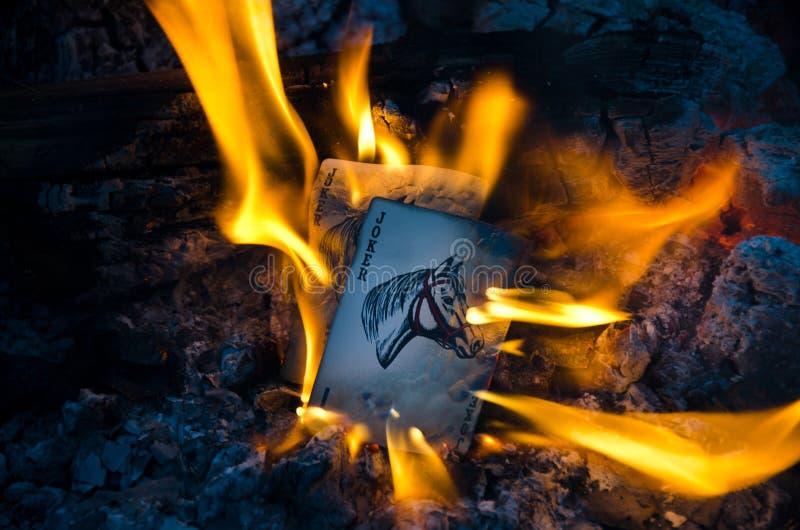 Palhaços ardentes imagem de stock royalty free