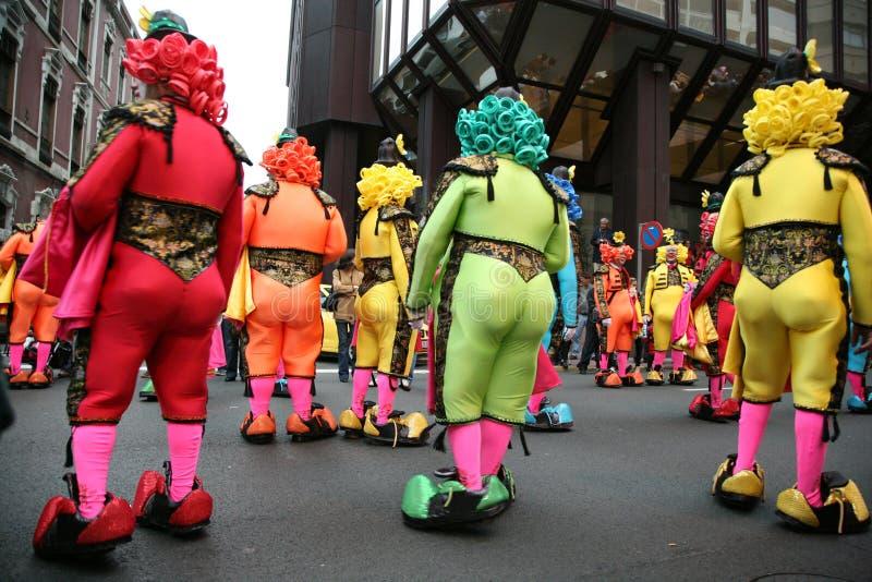 Palhaços do bullfighter do carnaval imagem de stock