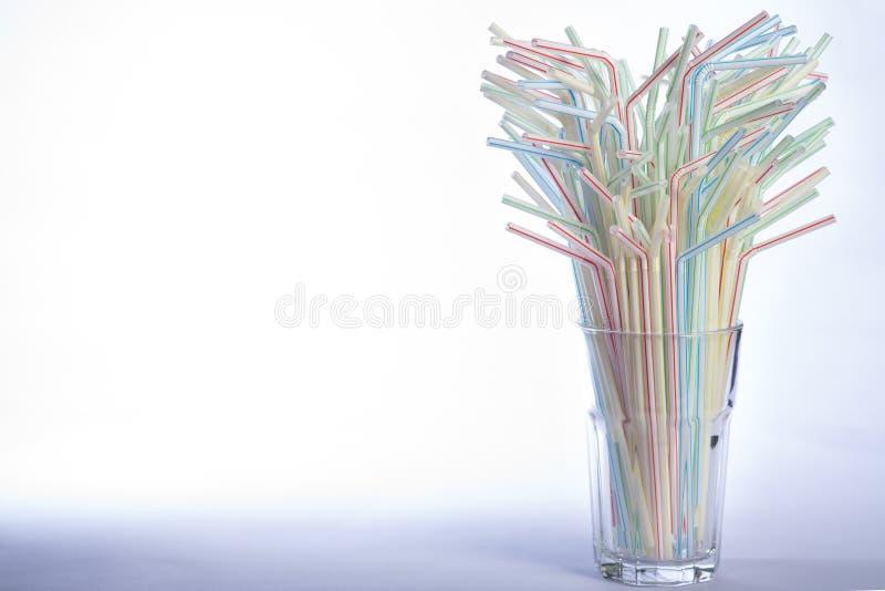 Palhas bebendo Multicoloured imagens de stock royalty free