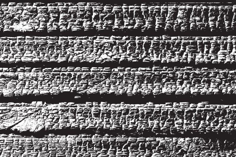 Palić Drewniane deski ilustracja wektor
