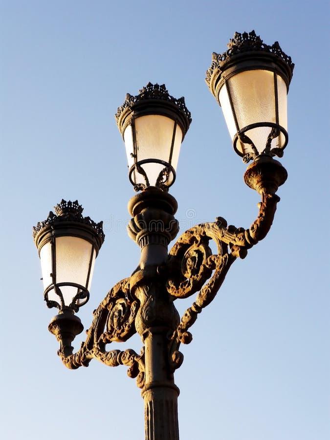 Pali della luce al tramonto a Cadice andalusia spain fotografie stock
