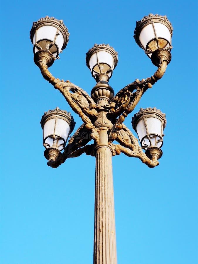 Pali della luce al tramonto a Cadice andalusia spain immagini stock libere da diritti