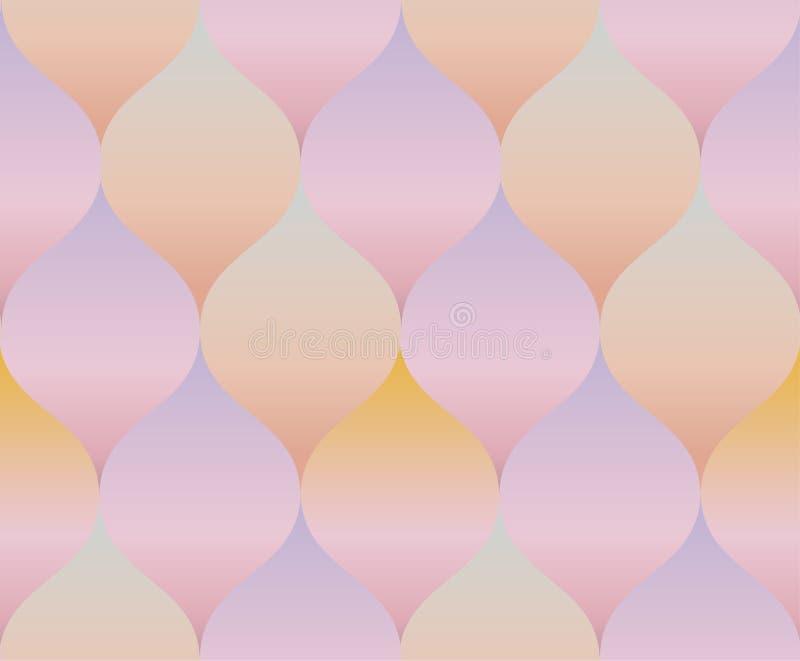 Palidezca el modelo color de rosa de la geometría del concepto de la pendiente del color libre illustration