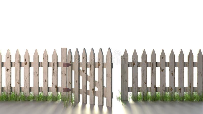 Palika ogrodzenie Odizolowywający obrazy stock