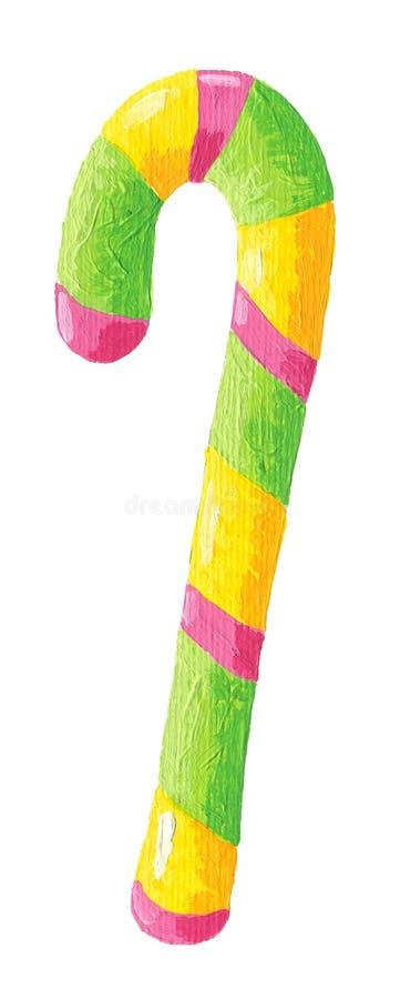 Palillo colorido del caramelo ilustración del vector