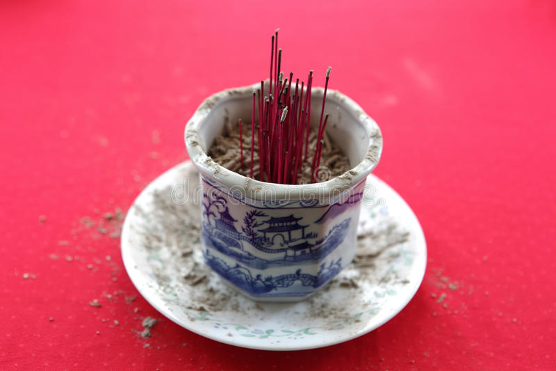 Palillo de ídolo chino quemado fotos de archivo libres de regalías