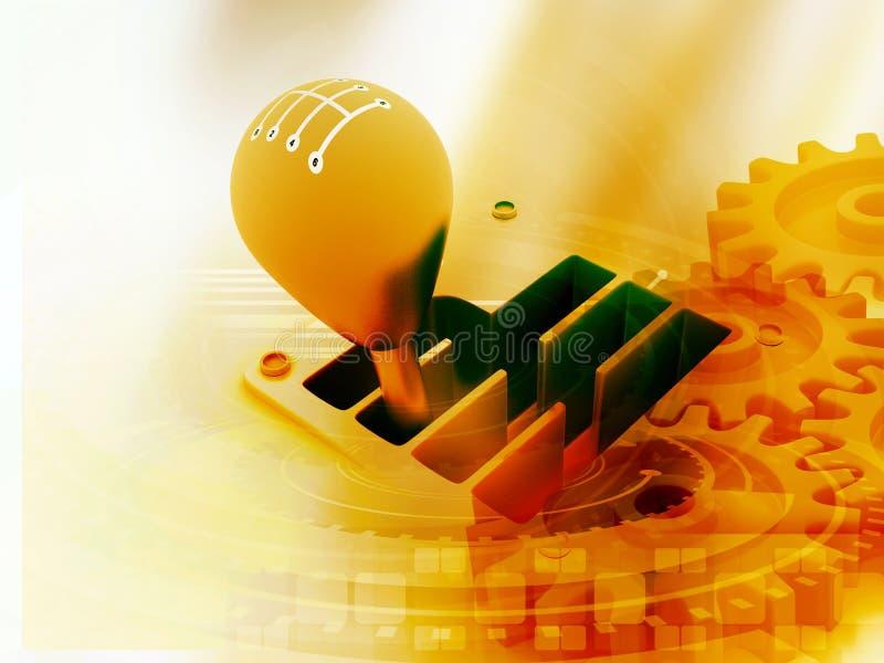 palillo de engranaje 3d en tecnología ilustración del vector