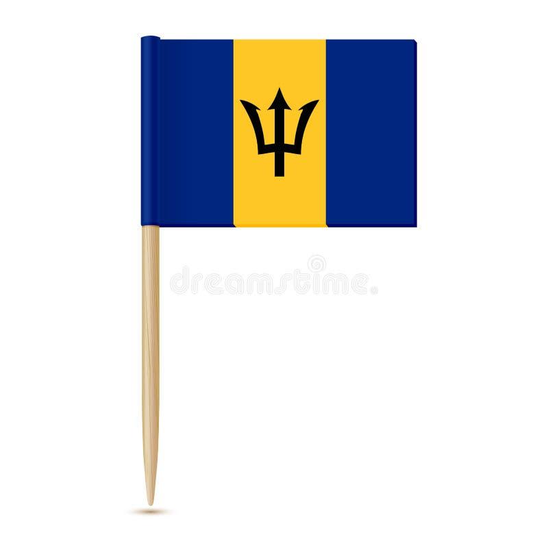 Palillo de la bandera de Barbados ilustración del vector