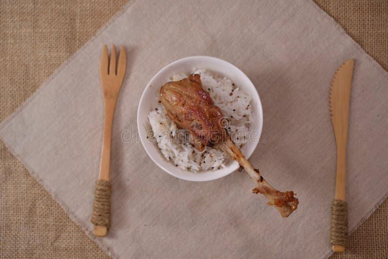 Palillo de la costilla de cerdo de la salsa del Bbq fotografía de archivo libre de regalías