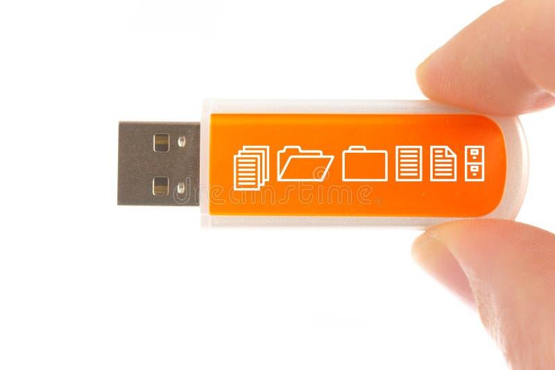 Palillo de la memoria de computadora del USB fotos de archivo