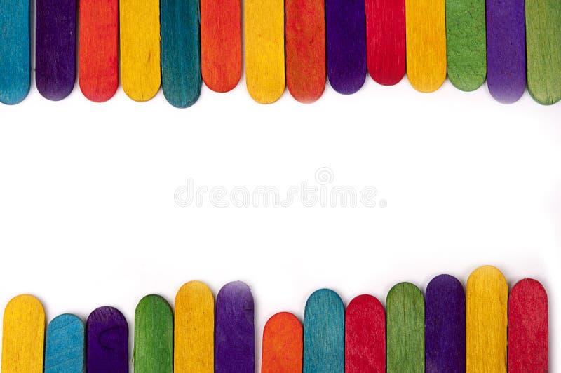 Palillo de madera colorido del helado fotos de archivo