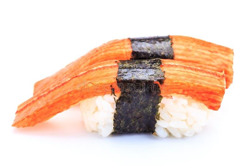 Palillo del cangrejo del sushi imágenes de archivo libres de regalías