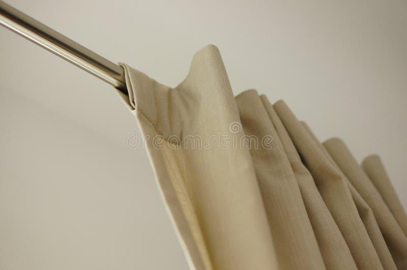 Palillo del metal de las cortinas fotos de archivo