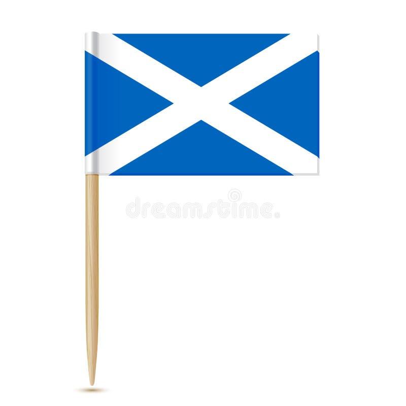 Palillo 10eps de la bandera de Escocia ilustración del vector