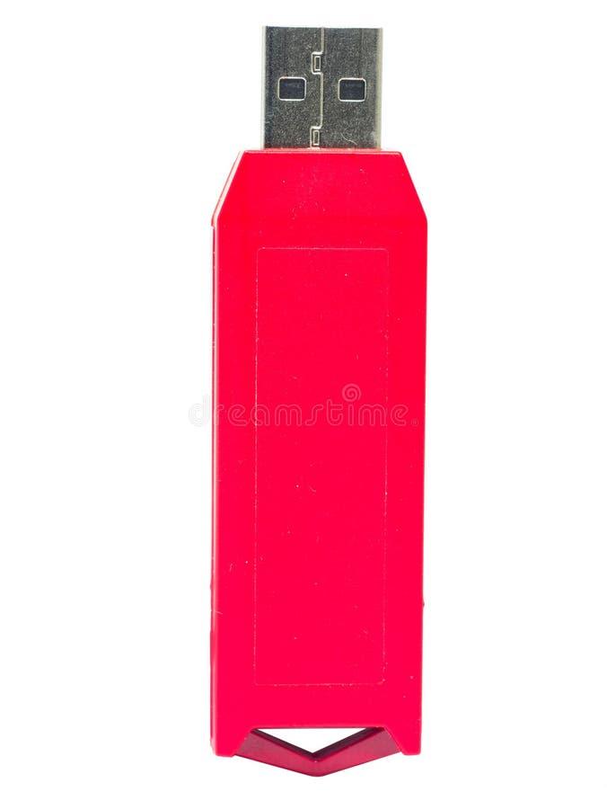 Palillo rojo de USB foto de archivo libre de regalías