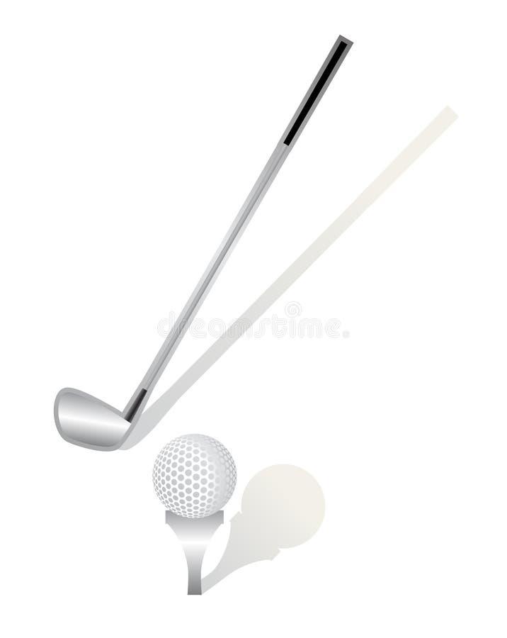 Palillo y bola del golf libre illustration