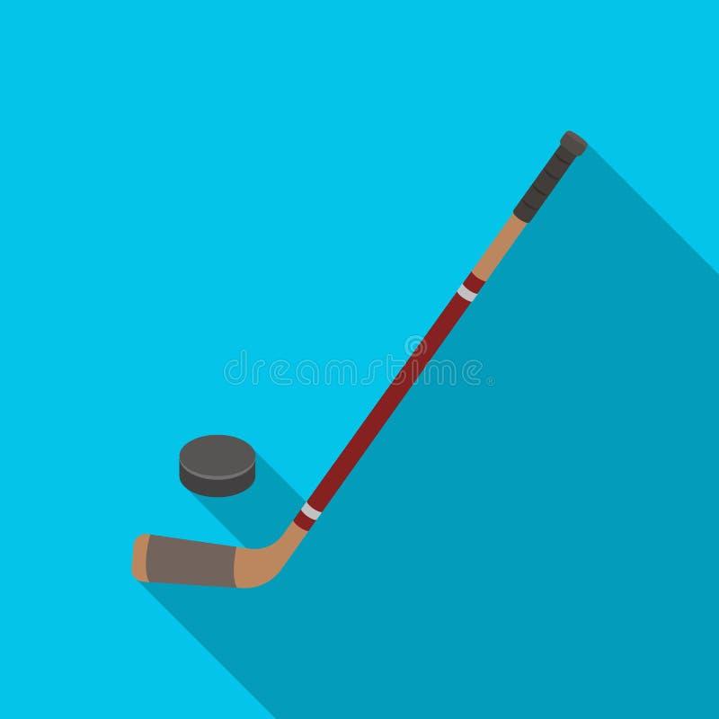 Palillo y lavadora de hockey Solo icono de Canadá en web plano del ejemplo de la acción del símbolo del vector del estilo libre illustration