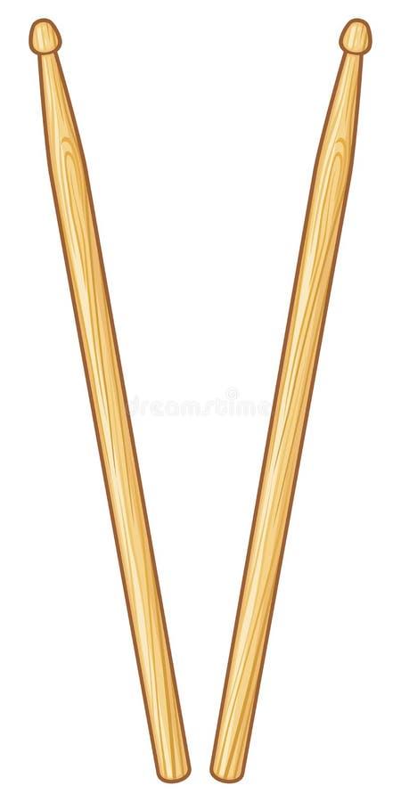 palillos ilustración del vector