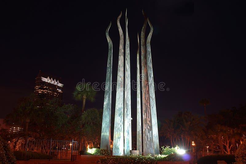 Palillos de la escultura del fuego, Tampa, la Florida fotos de archivo libres de regalías