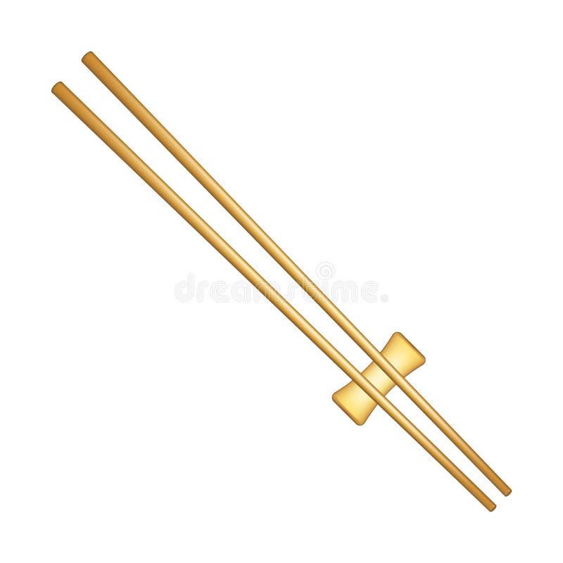Palillos de madera stock de ilustración