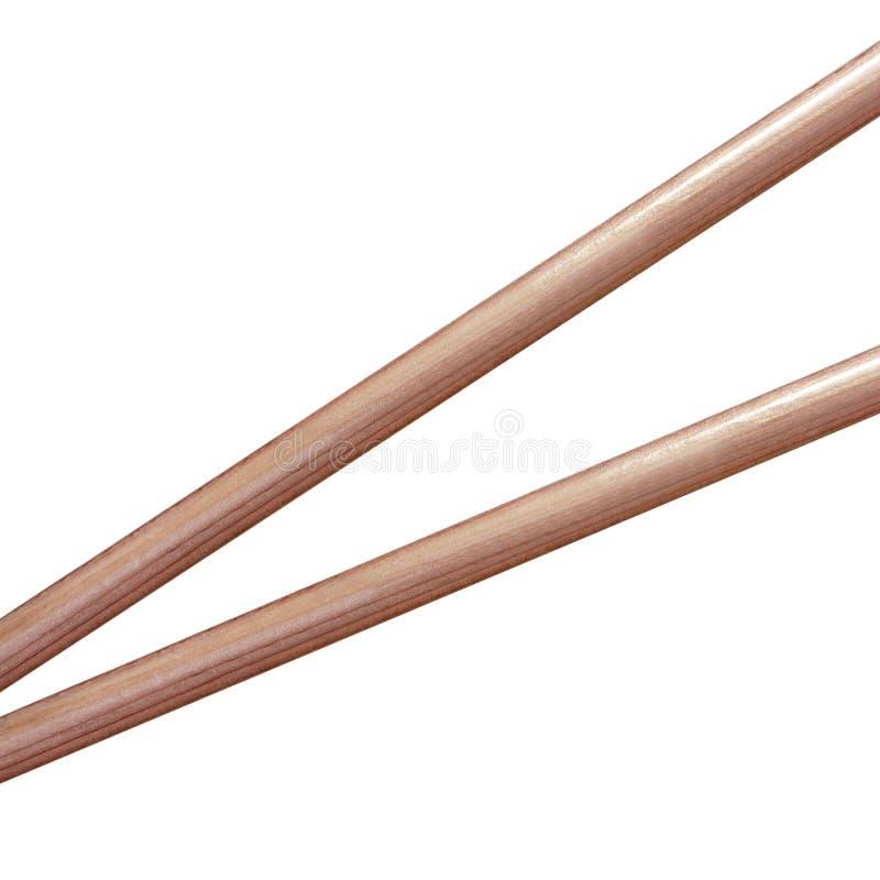 Palillos de madera aislados imágenes de archivo libres de regalías