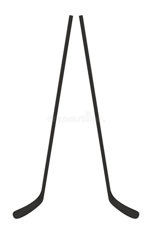 Palillos del hockey sobre hielo aislados en blanco ilustración del vector