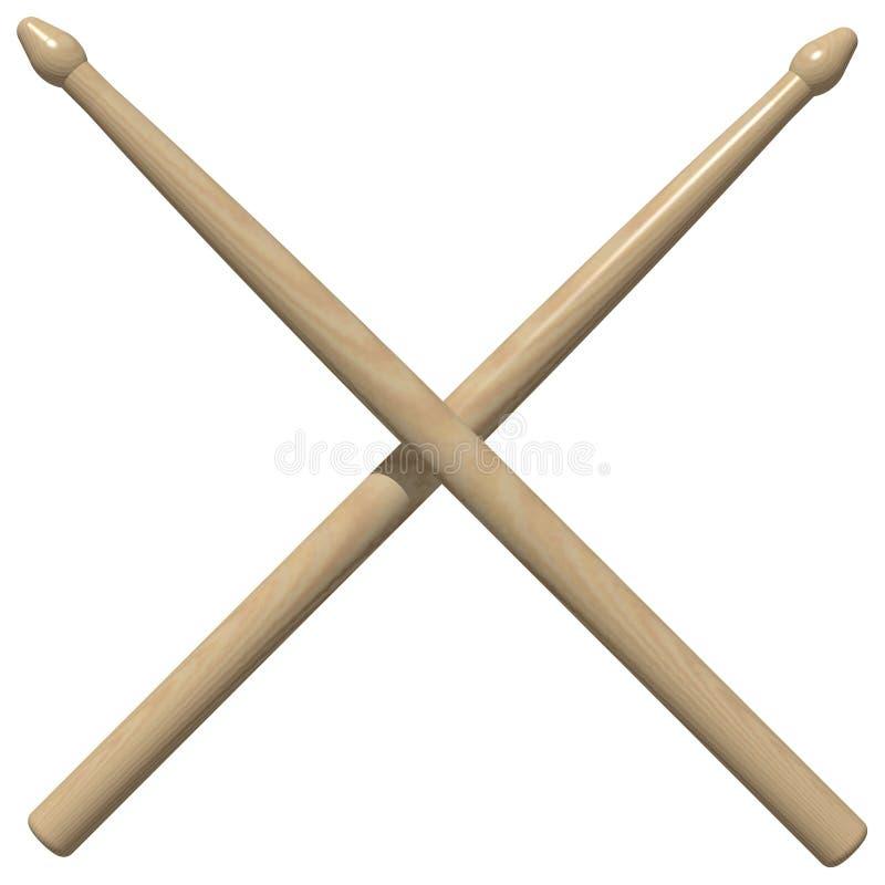 Palillos del tambor stock de ilustración