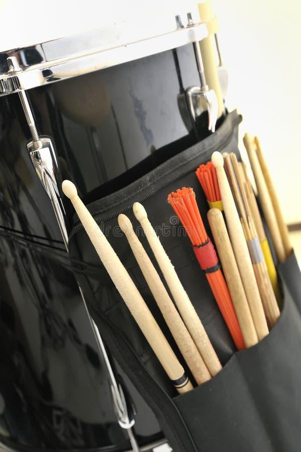 Palillos del tambor y del tambor fotografía de archivo