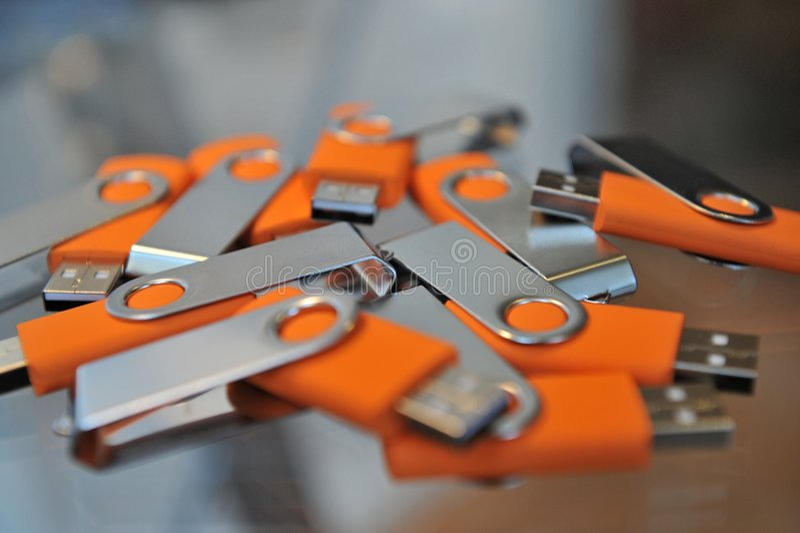 Palillos del USB fotografía de archivo libre de regalías